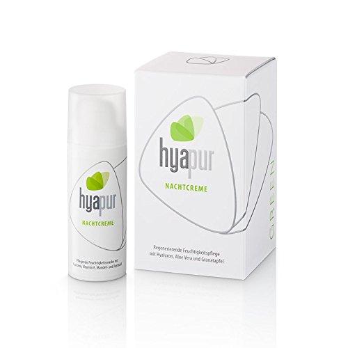 hyapur® - GREEN Nachtcreme 50ml - Die reichhaltige Feuchtigkeitscrme - zur Anti-Aging-Pflege mit Bio- Vegan- Natur- Kosmetik aus Berlin