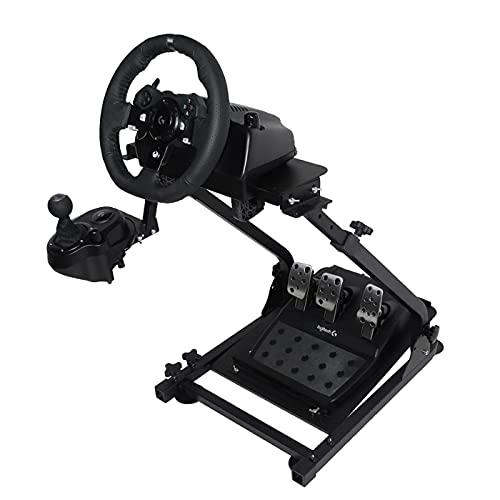 Marada g920 Stand - Multiple Adjustable - Easy to Fold - Carbon Steel - for Logitech G25, G27, G29 Steering Wheel, Black