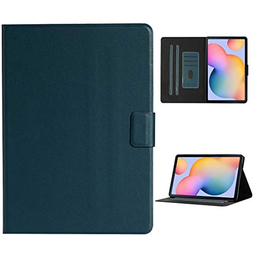Zhouzl Galaxy tablet case For Samsung Galaxy Tab A 10.1 2019 T510/T515 Solid Color Horizontal Flip Leather Case with Card Slots & Holder Galaxy tablet case (Color : Dark Green)