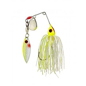 Strike King Mini-King Redeye Special Spinnerbait (Chartreuse/White, 0.125-Ounce)