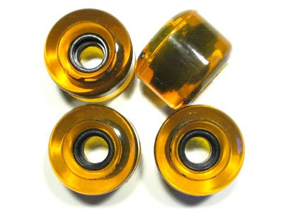 Blank Longboard Wheels Clear Yellow 70mm 82a