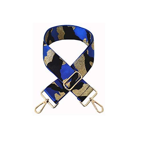 Tracolla larga 5,0 cm 80 cm-130 cm regolabile cinghie a tracolla per borse di ricambio cintura di tela borsa borsa borsa, blu (Scarpette a strappo Voltaic 3 Velcro Fade - Bambini), Taglia unica