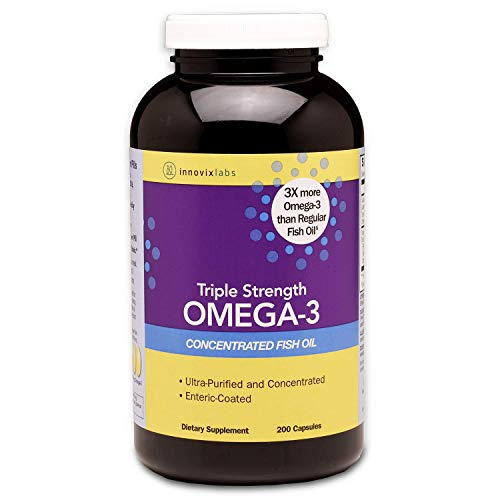 TRIPLE STRENGTH: InnovixLabs Triple Strength delivers 900 mg of Omega-3 per capsule. You'll get powerful benefits with fewer pills. Omega Fish Oil 900 is made with premium ingredients and produced to the GOED quality standards. Manufactured in a cGMP...