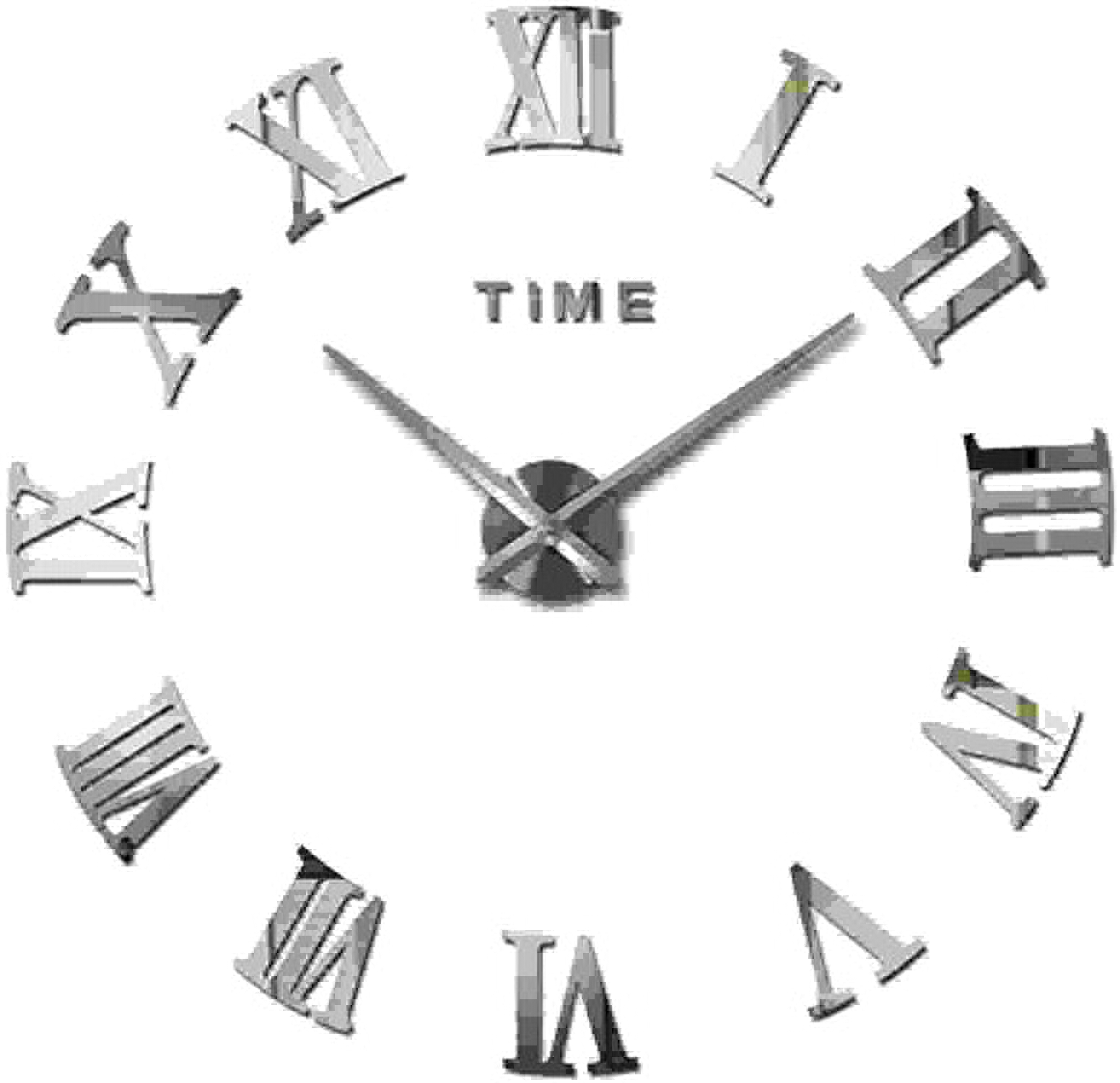 tienda Dceer Reloj de de de Parojo Creativo con la Etiqueta de Bricolaje, Reloj de Arte Minimalista Ultra silencioso, Etiqueta de la Parojo, decoración de la Parojo (Color   plata)  aquí tiene la última