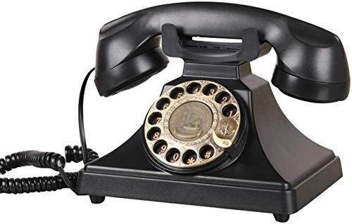 Teléfono Teléfono Inicio Dial Teléfono Teléfono Vintage Teléfono Vintage Escritorio Clásico Teléfono con Dialer Rotary Teléfono Vintage/Teléfono Retro con Madera Y Metal Cuerpo Funcional Classic Met