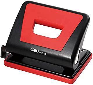 Deli 0105 2-hole Punch - 15 Sheets Capacity, Red