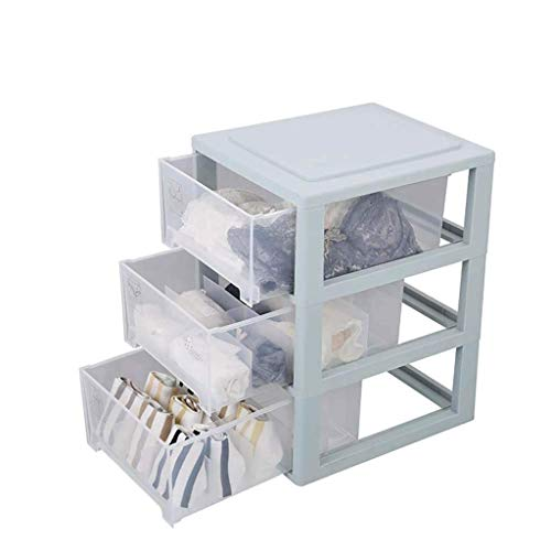 ADSE Clear Acrylic Jewelry Organizer Chest/Makeup Storage Box with 6 Drawers & Hanging Necklace Holder - Clear (Color : Pink)