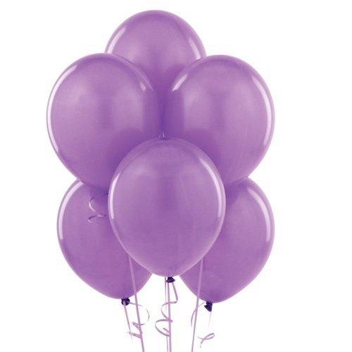 Homeford Premium Latex Balloons Plain Color, 12-Inch, Lavender, 12-Pack