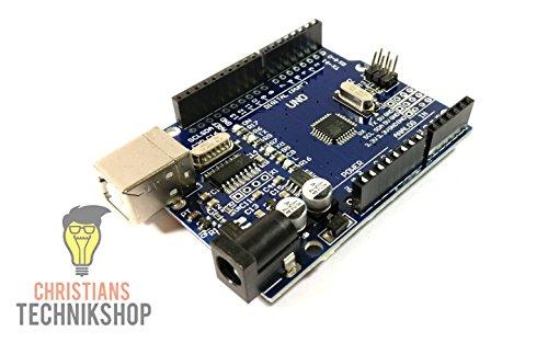 Christians Technikshop R3 Board (Arduino-Compatible) | Entwicklerboard kompatibel mit Arduino IDE | ATMEL ATmega328P AVR Mikrocontroller | CH340-Chip (1)