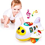 Baby Toys for 1 Year Old Boys Girls Airplane Light-Up Toys Music Baby Learning...