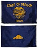 AES 3x5 State of Oregon 3 x5  Double Sided Super Polyester Premium Quality Flag