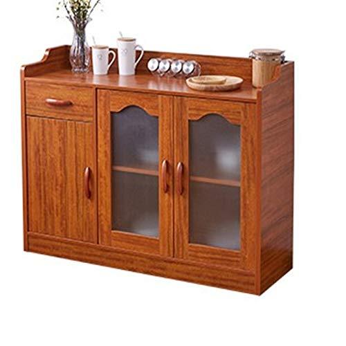 Goodvk Aparadores Gabinete de aparador Gabinete de Almacenamiento Gabinete de té Moderno Simple Sala de Estar Aparador de Cocina Gran Espacio de Almacenamiento (Color : Marrón, Size : 105x40x90cm)