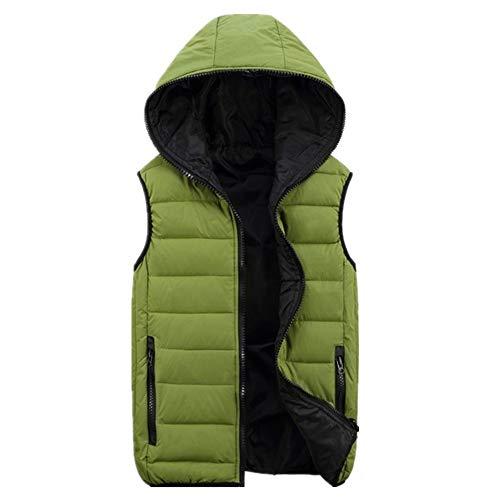 Invierno Hombres Slim Coat Chaleco Más El Tamaño Para Hombre Chaqueta Caliente Abajo Algodón Grueso Chalecos Con Capucha