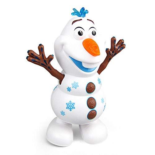 Juguete de muñeco de nieve de música de baile eléctrico, robot interactivo electrónico de la serie Ice Snow, juguete de robot de Olaf de muñeco de nieve con luces intermitentes LED de música (1 PC)