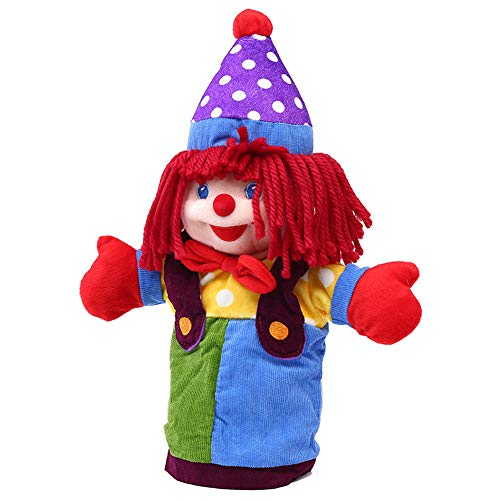 KOSSJAA Clown Hand Puppet for Kids Fit Adults and Children Storytelling Game Props Toy Girls Kindergarten Role Play (Clown)