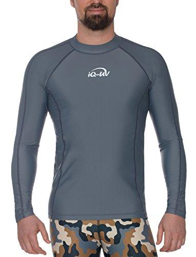 iQ-UV 646122 T-Shirt Anti-UV Homme, Gris, FR : L (Taille Fabricant : L)