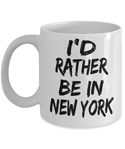 AmyNovelty Kaffeebecher,Lustige New Yorker Geschenke 11 Unzen Kaffee Teebecher - Ich Wäre Lieber Dabei - Beste Inspirierende Geschenke Und Sarkasmus