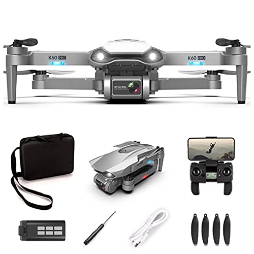 XTREME STYLE ✈️ Dron profesional GPS con cámara dual 6K 30 min de tiempo de vuelo, 1200 m de alcance, zoom 50x, retorno automático, cuadricóptero teledirigido plegable y elegante con maletín