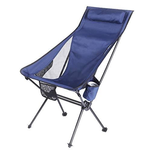 JYQ-SZRQ Silla de Camping Plegable Exterior Ligera Silla portátil Playa for la Pesca Jardín Senderismo Mochilero Viajes Asiento Exterior (Hold hasta 330lbs) (Color : Blue)