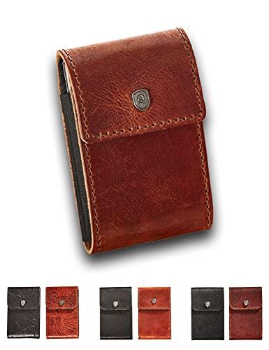 Kartenetui JES, Slim Wallet mit Platz für 8-10 Karten und Diverse Geldscheine. Produziert aus italienischem Leder, RFID-Blocker Karte gegen Datendiebstahl inklusive!