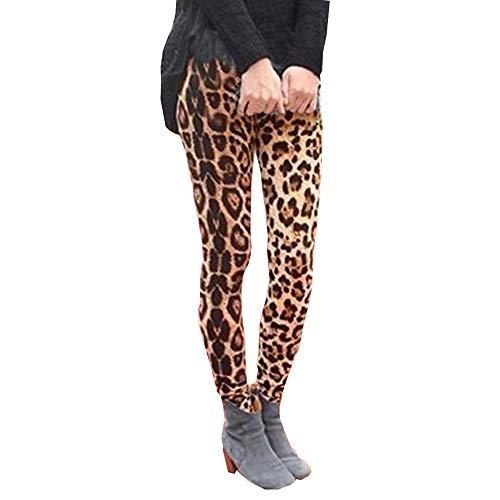 QinMM Pantalones Estampado Leopardo Mujer Elegante