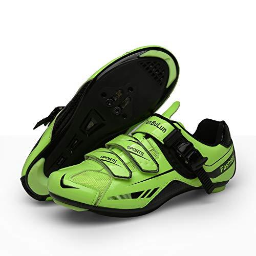 CHANGAN Road Cycling Shoes Men s Bicycle Shoes Lightweight Wear Resistant Bike Footwear Road Bike Shoes Mountain Bike Shoe Yellow-43