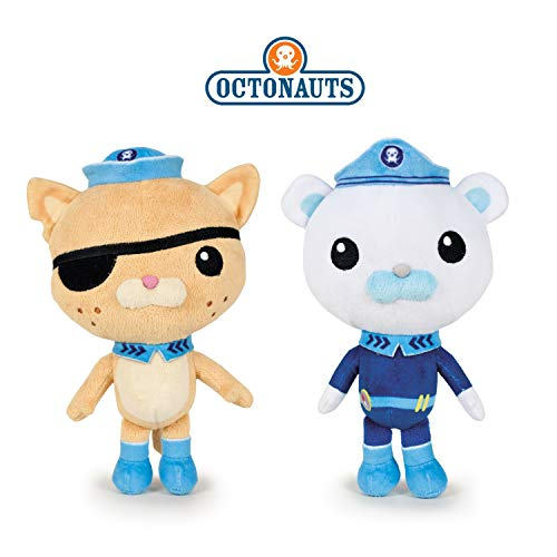 Octonauts Famosa Softies - Pack 2 Plüschspielzeug The Captain Barnacles (Eisbär) + Kwazii (Katze) 13 '/ 35cm...