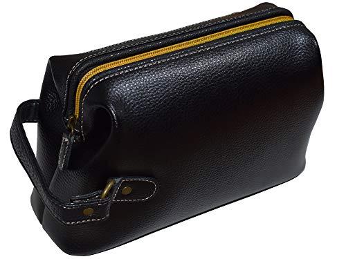 牛革 セカンドバッグ ダレス型 シンプル セカンドポーチ メンズ 紳士 普段使い 408 (ブラック)