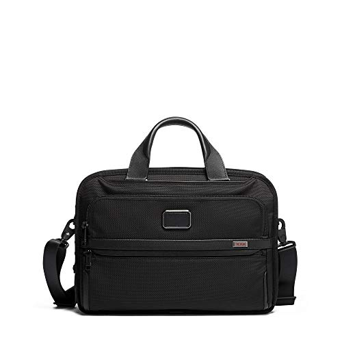 TUMI - Alpha 3 Triple Compartment Brief Briefcase - 15 Inch Computer Bag for Men and Women - Black