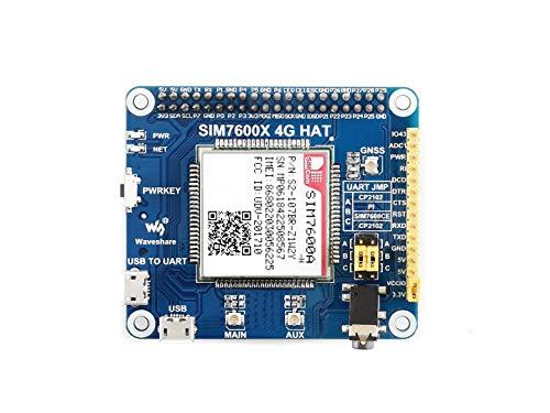 Waveshare4G/3G/GNSSHATforRaspberryPiZero/ZeroW/ZeroWH/2B/3B/3B+BasedonSIM7600A-HLTECAT4upto150MbpsSupportPhoneCallWirelessCommunication