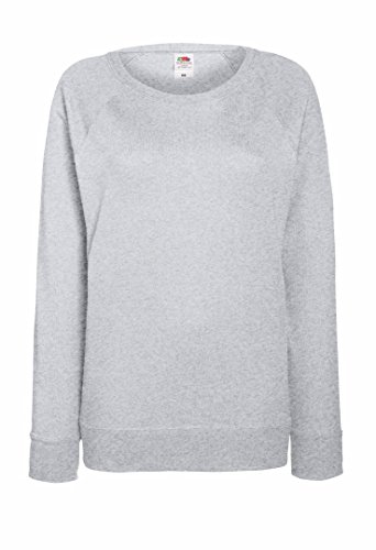 Fruit Of The Loom - Felpa leggera da donna con maniche raglan Light Graphite M