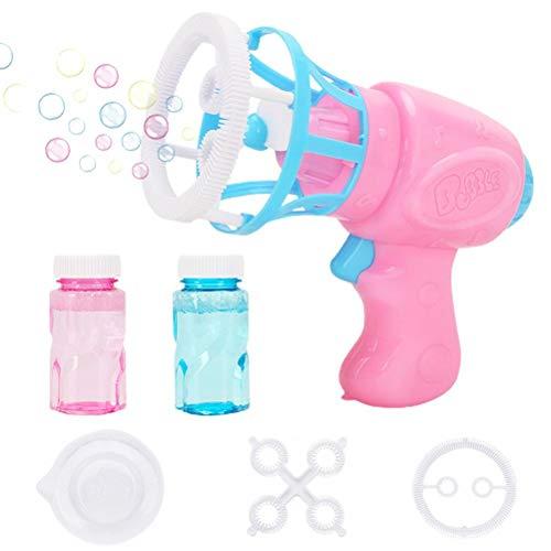 Máquina de burbujas para niños Plástico Eléctrico Automático Máquina de Burbuja Ventilador Fabricante Niños Jugando Juguetes para Jardín Patio