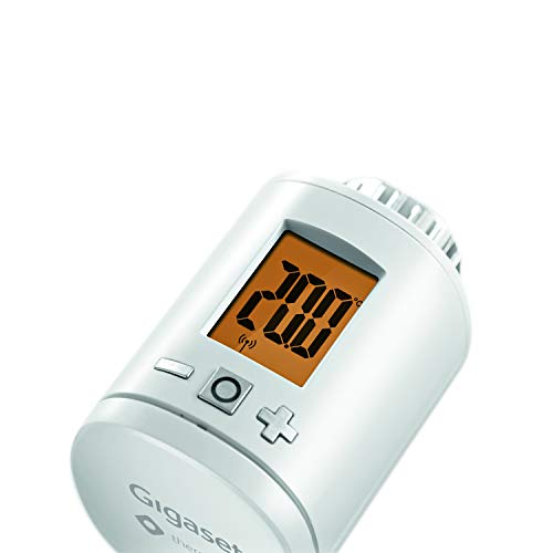 Gigaset Set-Ergänzung smart Thermostat (mit intelligenter App-Steuerung, intelligentes Heizungsthermostat spart bis zu 30% der Heizkosten, mit kostenfreier App)