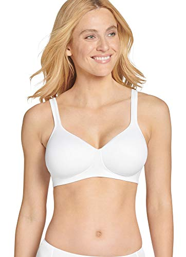 Jockey Women's Bras Forever Fit Full Coverage Molded Cup Bra, White, XL