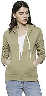 Campus Sutra Women's Cotton Hooded Hoodie