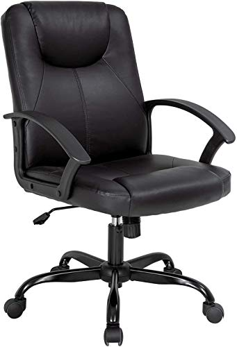 kovalenthor Executive Chair Office Chair Desk, PU Leather Computer Ergonomic Chair, Adjustable Rolling Swivel Task Chair Chair with Lumbar Support (Medium)
