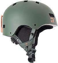 Retrospec Traverse H1 Ski & Snowboard Helmet, Convertible to Bike/Skate, Matte Forest Green, Small (51-55cm)