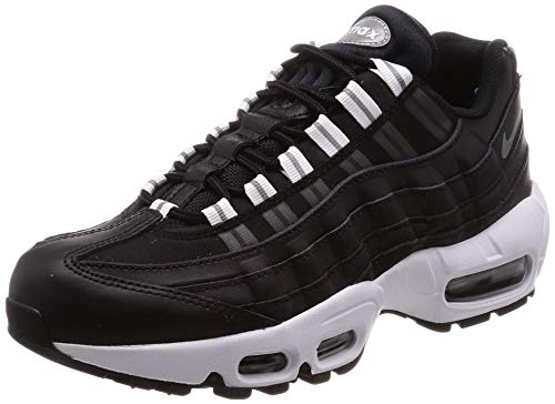 Nike Wmns Air Max 95, Scarpe da Fitness Donna, Multicolore (Black/Reflect Silver/Black/White 020), 38 EU