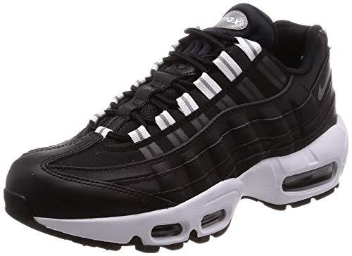 Nike Damen WMNS Air Max 95 Fitnessschuhe, Mehrfarbig (Black/Reflect Silver/Black/White 020), 39 EU