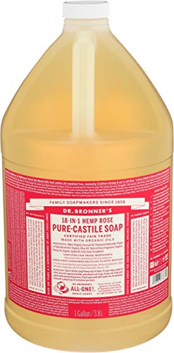 Dr Bronner's, Soap Liquid Rose Organic, 128 Fl Oz