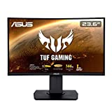 ASUS TUF Gaming VG24VQ - Monitor gaming curvo de 23.6' FHD (1920x1080, 144 Hz, 1 ms, Adaptive-Sync/FreeSync, Extreme Low Motion Blur, FreeSync, 1500R, Shadow Boost, HDMI, DisplayPort) Negro