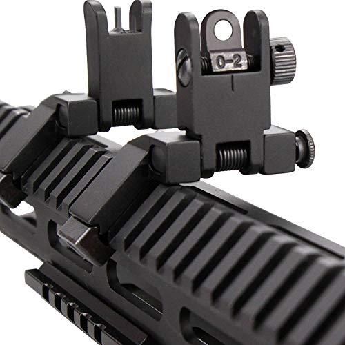 KINBON 45 Degree Offset Sights Set, Offset 45 Degree Flip Up Rapid Transition Backup