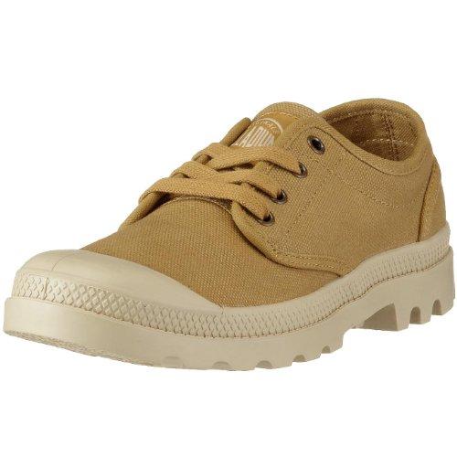 Palladium Pampa Oxford Mustard/Putty - Zapatos para hombre, color marrón, talla 42