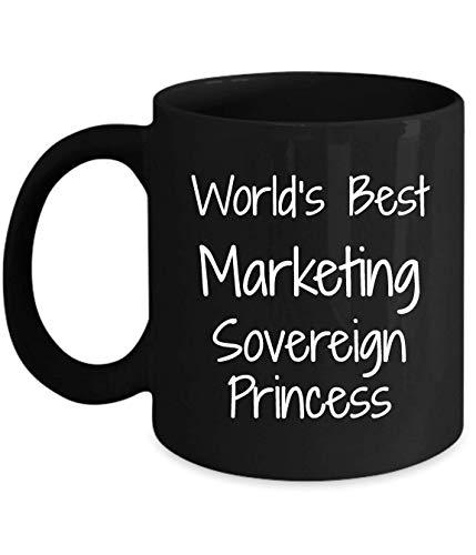 N\A Regalo para comercializar Princesa soberana - lo Mejor del Mundo - Divertida Novedad Idea de Regalo café Taza de té Regalos Divertidos cumpleaños Navidad Aniversario Agradecimiento Taza Negra