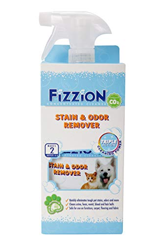 Fizzion Pet Stain & Odor Remover 23oz Empty Spray Bottle with 2 Refills (Makes 46oz)