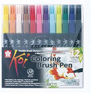 Sakura Koi 12 Water Colour Brush Pen Set (SPRO33XBR12A) - Pack of 12