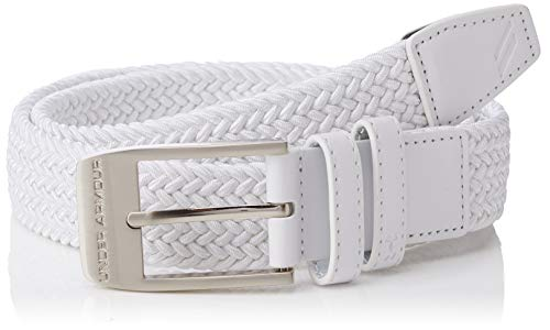 Under Armour Men's Braided 2.0 Belt Ceinture Homme, Blanc, 42