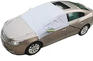All Weather Universal Half Car Shade Cover for Sedan