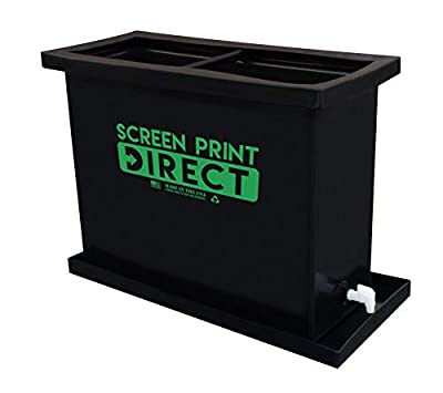"""40 Gallon Screen Printing Dip Tank KIT includes Tank and 4 Gallons of Dip Tank Solution - Fits 6 Screens up to 23"""" x 31"""" Big Dipper Tank by Screen Print Direct"""