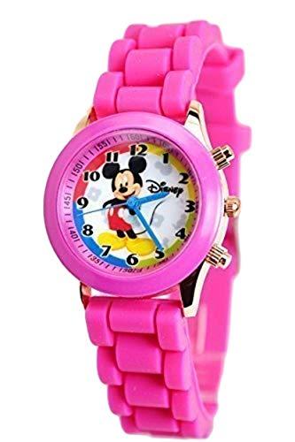 Disney Montre Mickey Mouse avec boutons tendance dans une boîte à stylos/lunettes Petit affichage analogique violet